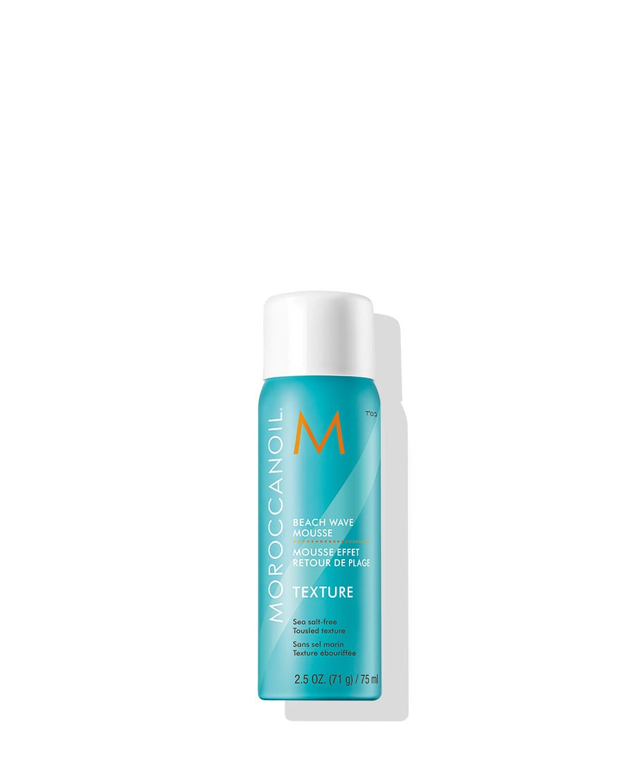 Get long-lasting textured beach hair any time of the year with Moroccanoil Beach Wave Mousse, an upgrade on the classic sea salt spray. The unique salt-free formula provides tousled texture without dehydration, in a mousse form, for greater application and styling control. Create waves for an effortlessly windswept look with flexible hold, while UV absorbers protect hair from sun damage and maintain color vibrancy. The finish is beachy and textured, never dehydrated, stiff or sticky.
